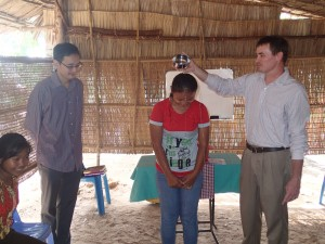 Baptisms in the village